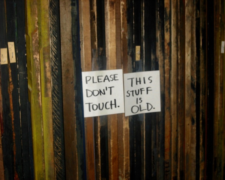 Please don't touch this stuff is old Hatch Show Print Nashville Tennessee