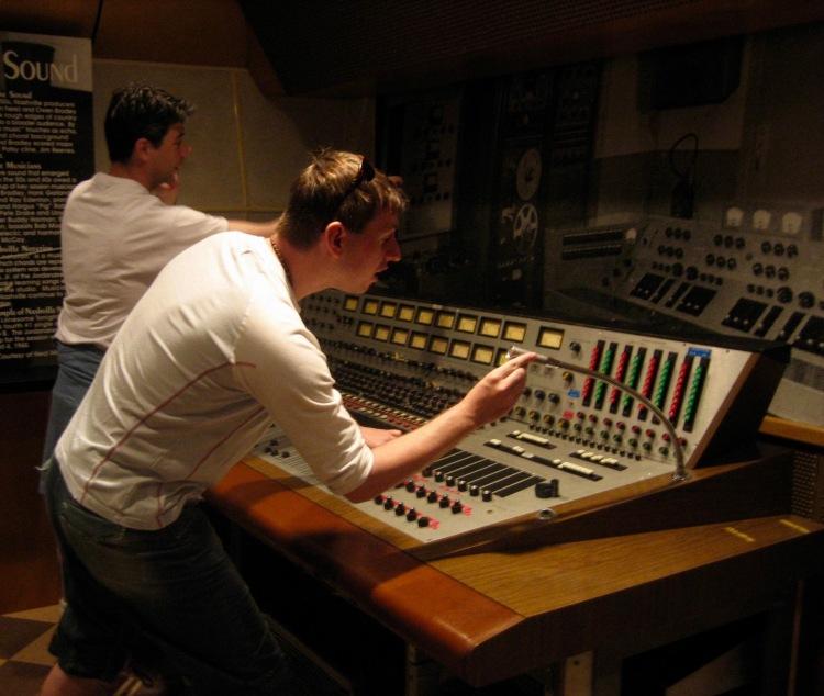 Recording console Studio B Nashville Tennessee
