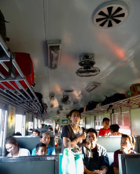 The train from Bangkok to Ayuthaya Thailand