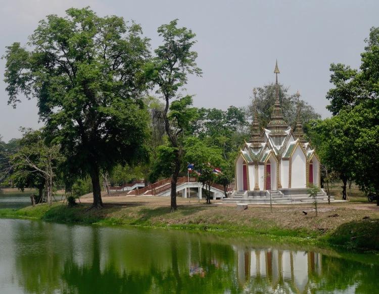 Tiny temple Ayuthaya Historical Park Thailand