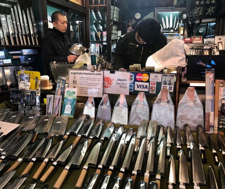 Sugimoto Cutlery Handmade knives Tsukiji Outer Market Tokyo