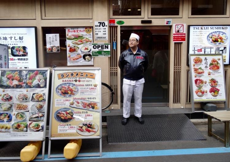 Sushi restaurant Tsukiji Outer Market Tokyo