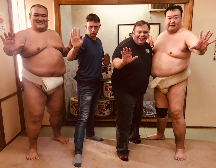 Live Sumo Performance and duel Asakusa Tokyo