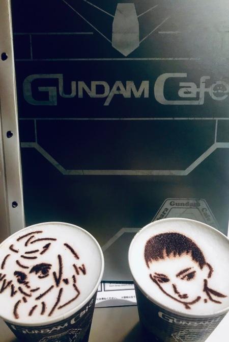 Mikazuki and Wufei Coffees at Gundam Cafe Akihabara Tokyo