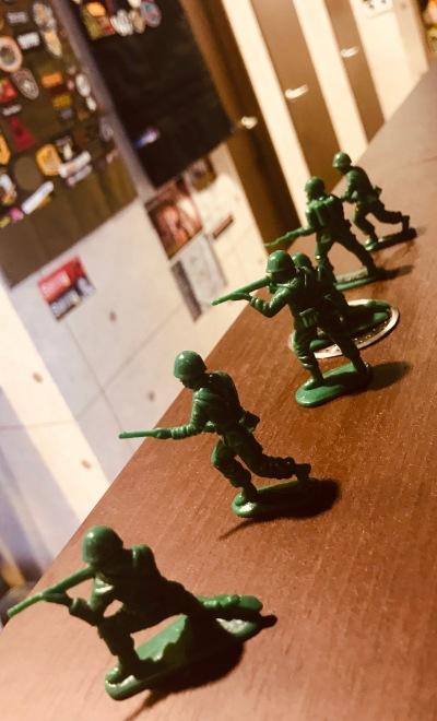 Model soldiers Akiba Base Shooting Cafe & Bar Akihabara Tokyo