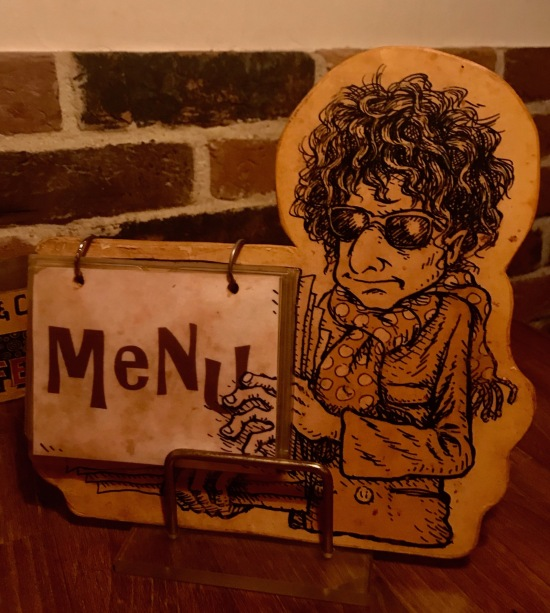 Polka Dots Bob Dylan Bar Menu Tokyo.