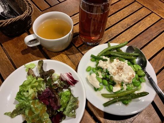Set lunch Blue Garden Restaurant Harajuku Tokyo