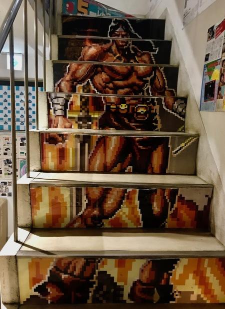 Stairway to the 5th floor arcade Super Potato Akihabara Tokyo