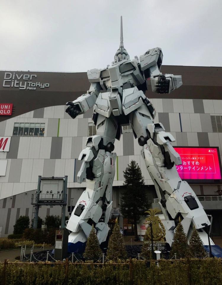 Unicorn Gundam Statue Diver City Plaza Odaiba Island Tokyo