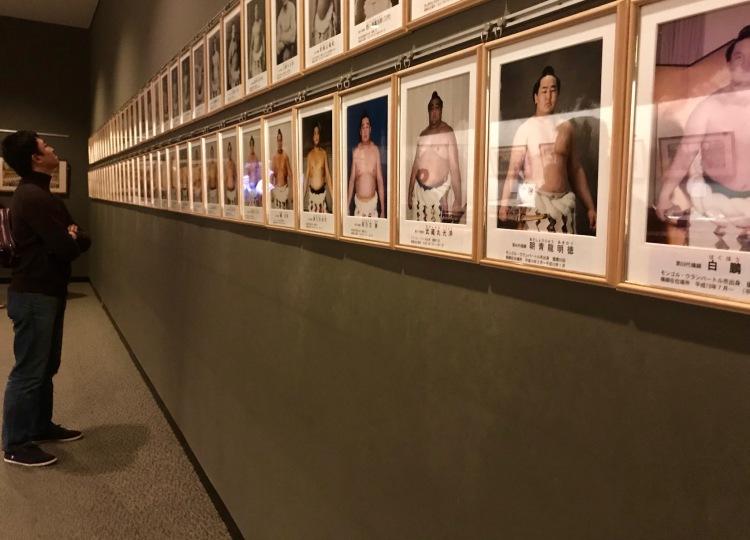 Wall of fame Sumo Museum Ryogoku Tokyo