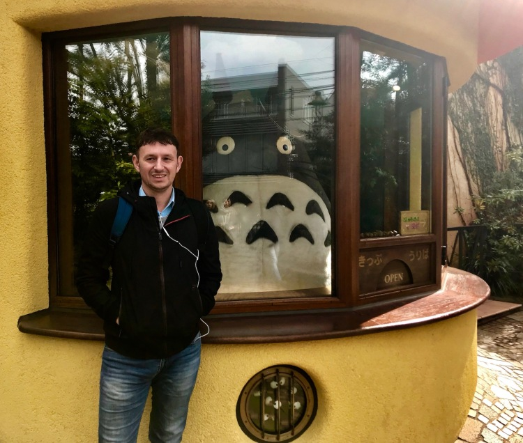 With Totoro at The Studio Ghibli Museum Tokyo