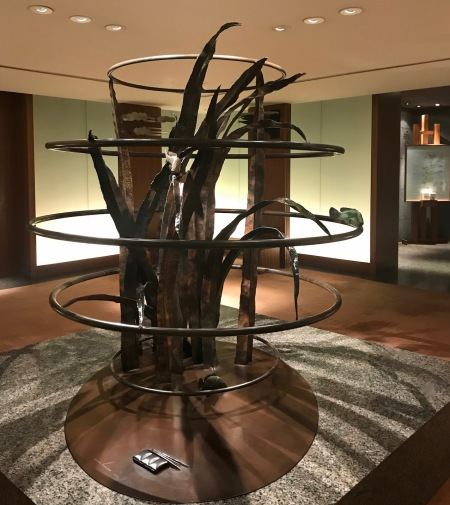 Anthony Donaldson Sculpture central foyer Lobby Park Hyatt Tokyo.