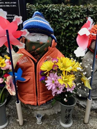 Care Deities of Children Garden at Zojoji Temple Tokyo.