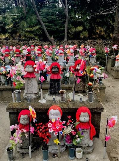 Care Deities of Children Garden Zojoji Temple Tokyo.