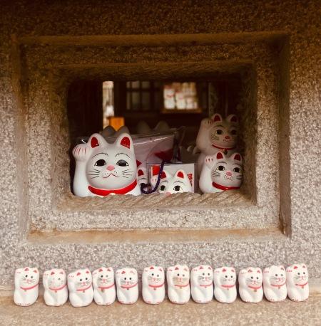 Cat Waving Temple Gotokuji Temple Tokyo.