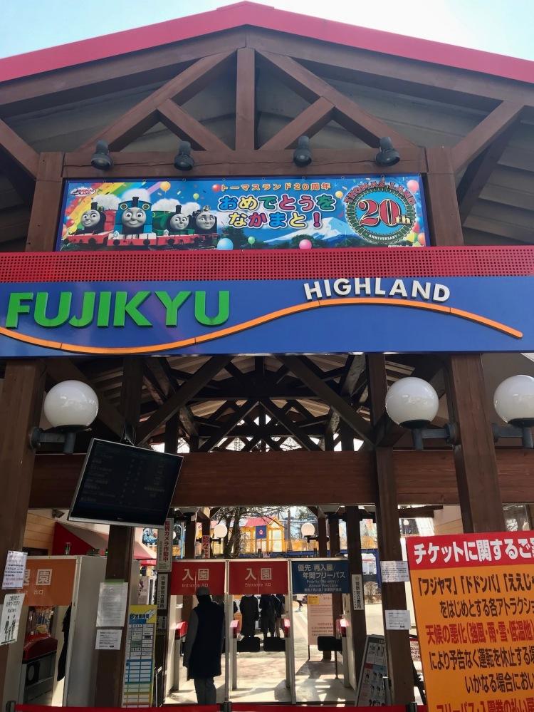 Fuji-Q Highland Amusement Park Mount Fuji Japan.