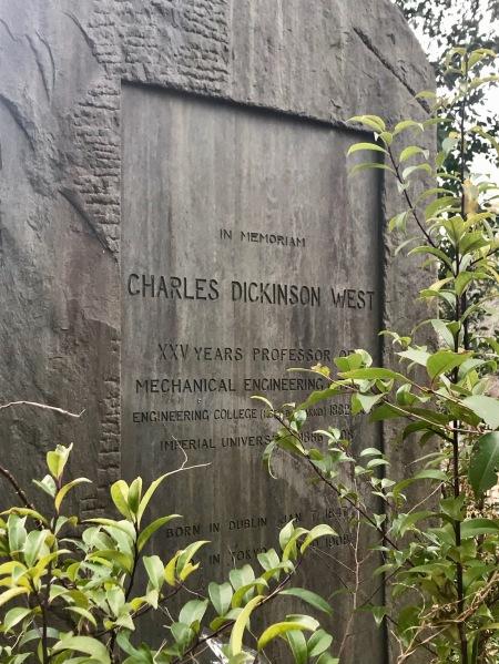 In Memoriam Charles Dickinson West Aoyama Cemetery.