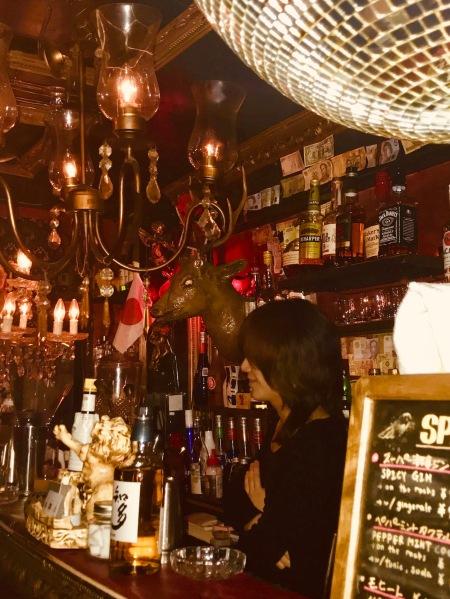 Inside Albatross Bar Golden Gai Tokyo.