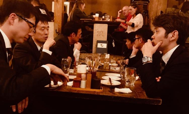 Local businessmen at The Kill Bill Restaurant Gonpachi Nishiazabu Tokyo