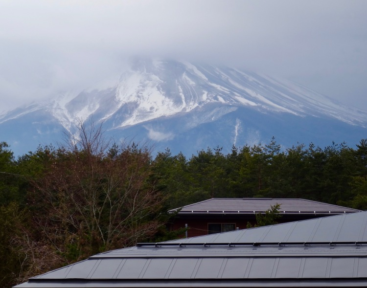Mount Fuji from Fujisan World Heritage Center Japan.