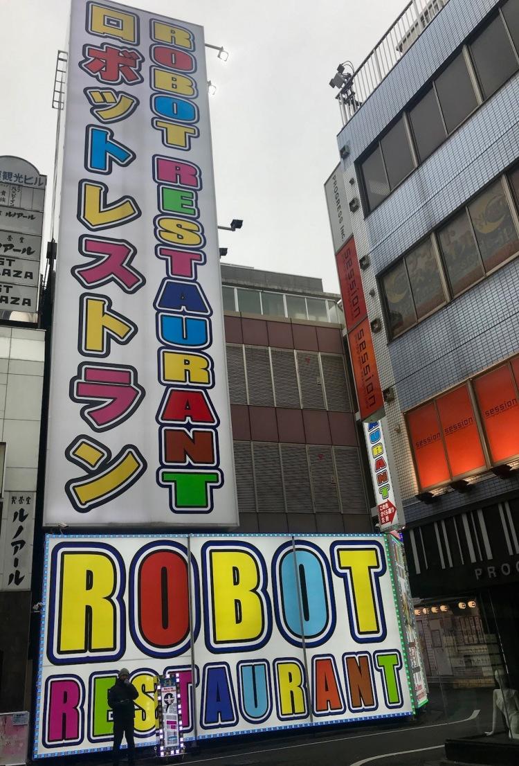 Outside The Robot Restaurant Tokyo.