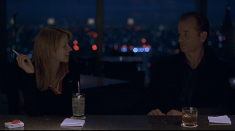Scarlett Johansson and Bill Murray The New York Bar Park Hyatt Tokyo Lost In Translation