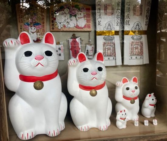 The Cat Waving Temple Gotokuji Temple Tokyo.