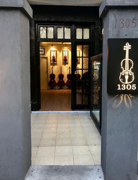 Violin store 1305 Fuxing Middle Road Shanghai French Concession.