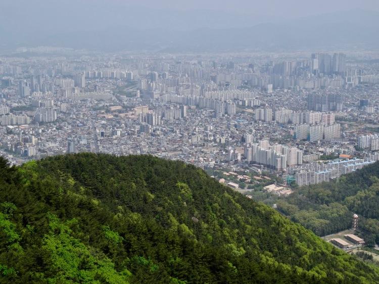 Apsan Mountain Daegu South Korea.