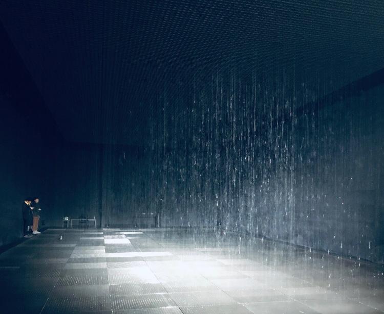 Inside Rain Room Yuz Museum Shanghai.