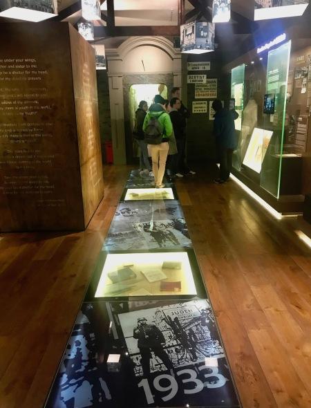 Inside Shanghai Jewish Refugees Museum.