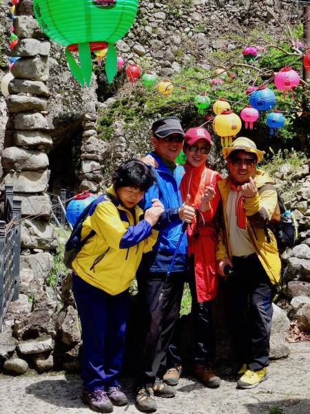 Korean tourists at Tapsa Temple South Korea.