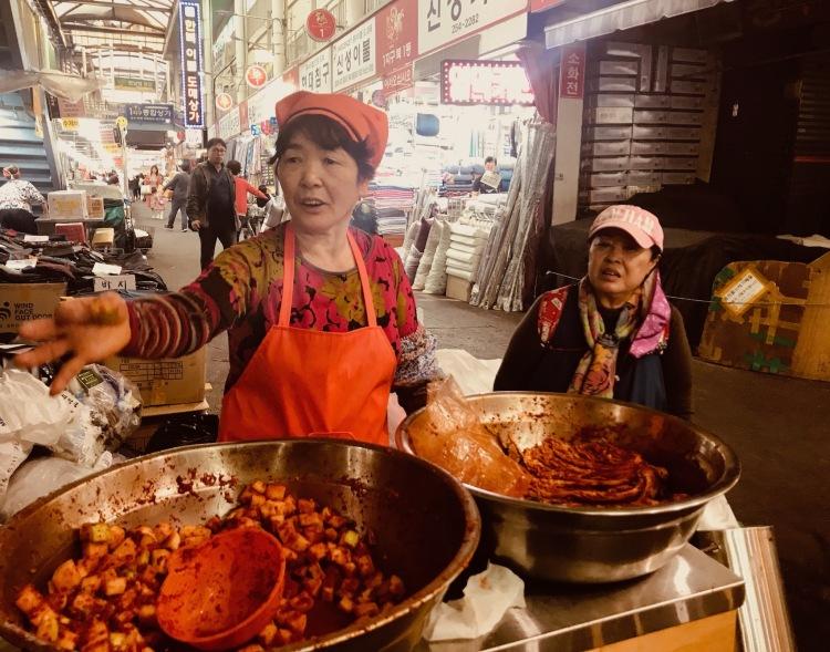 Street food Seomun Market Daegu South Korea.