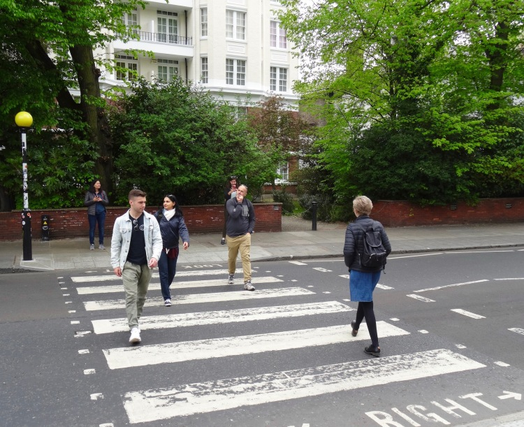 Abbey Road Crossing London.