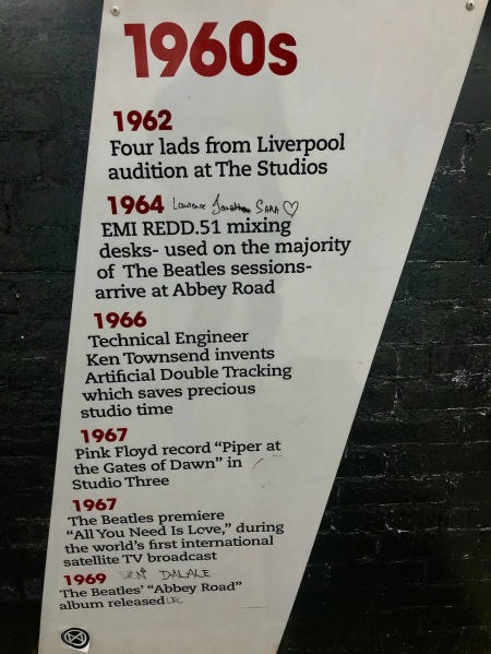 Abbey Road London 1960s timeline.