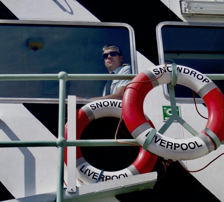 Boat captain Mersey Ferries River Explorer Cruise.