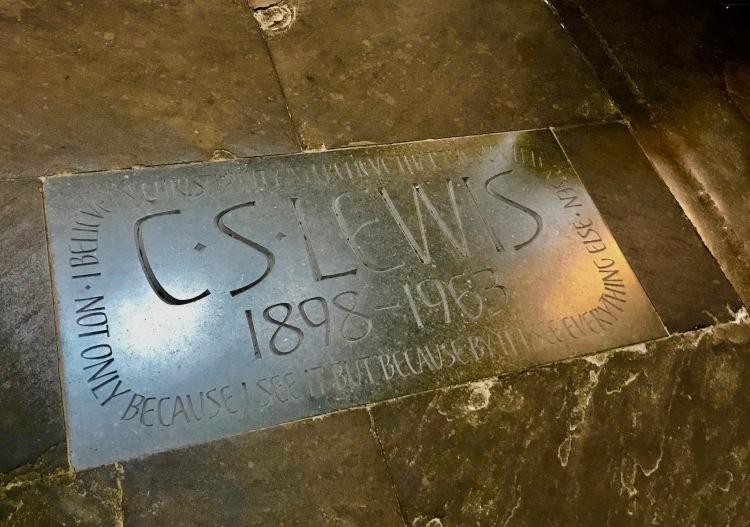 C.S. Lewis Memorial Poet's Corner Westminster Abbey.
