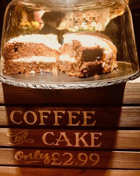 Coffee and Carrot cake The Eagle Pub Cambridge.