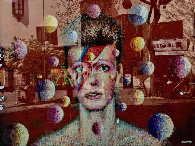 David Bowie Mural Brixton London.