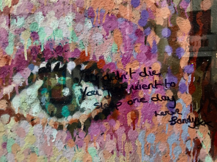 Fan graffiti David Bowie Mural Brixton London.