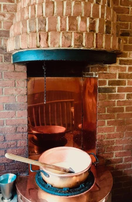 Fudge cooking in the pot Fudge Kitchen Cambridge.