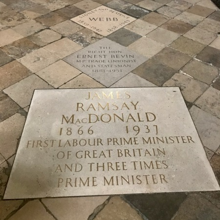 James Ramsay McDonald Memorial Stone Westminster Abbey London.