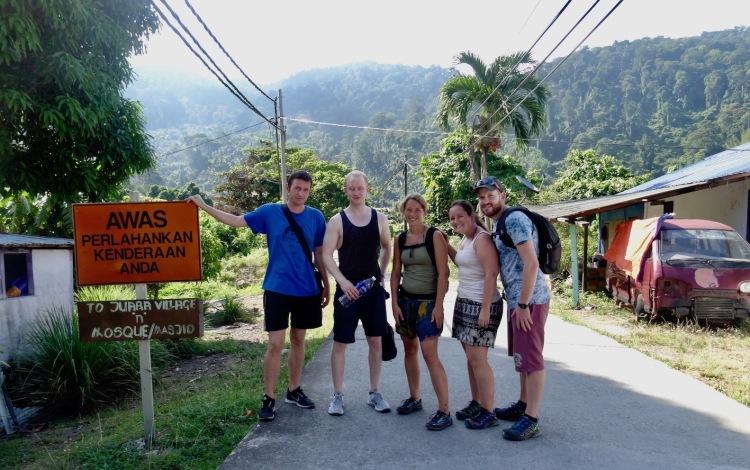Jungle hike from Tekek to Juara Tioman Island Malaysia