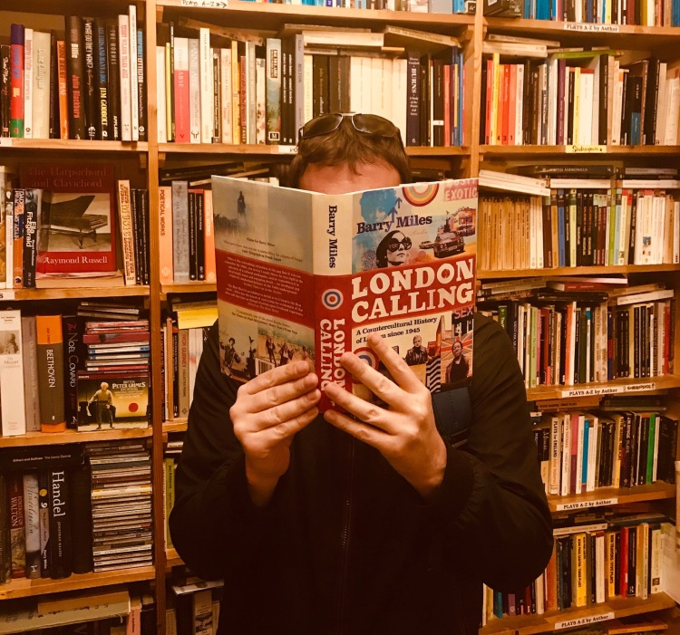 London Calling by Barry Miles Black Gull Bookshop & Bindery Camden Town London.