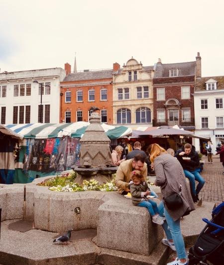Market Square Cambridge England.