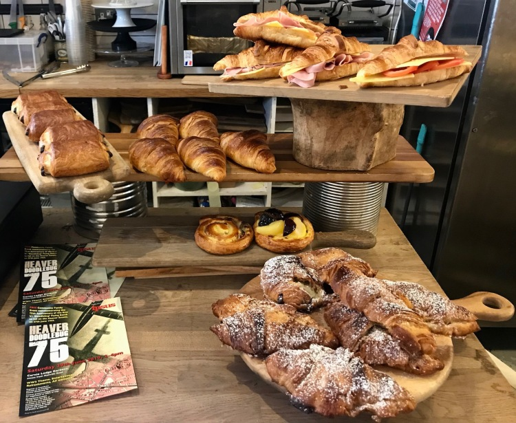 Pastries and croissants Dee Light Bakery Tooting Bec London.
