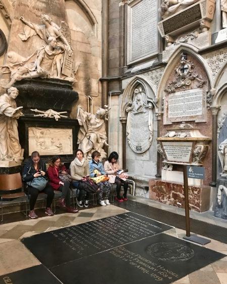 Poet's Corner Westminster Abbey.