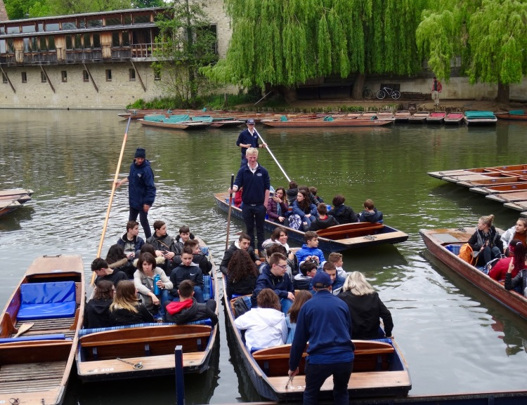 Punting in Cambridge with Scudamore's