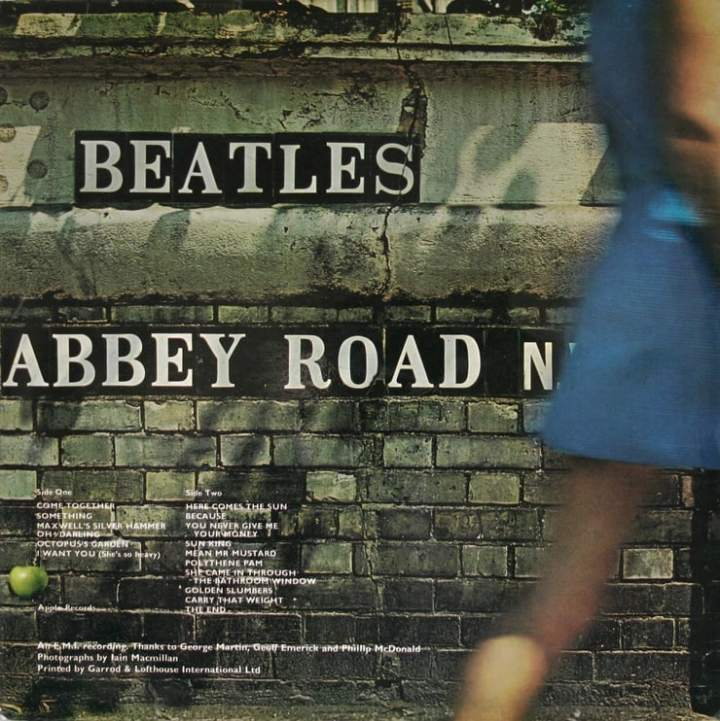 The Beatles Abbey Road back cover.