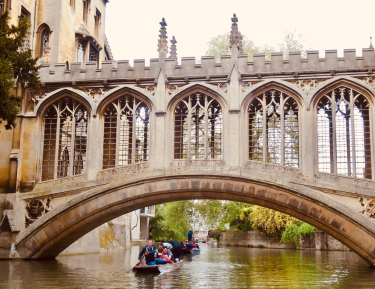 The Bridge of Sighs Cambridge England.